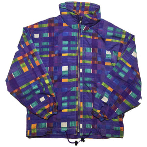Estivo Purple Blue Checkered Jacket