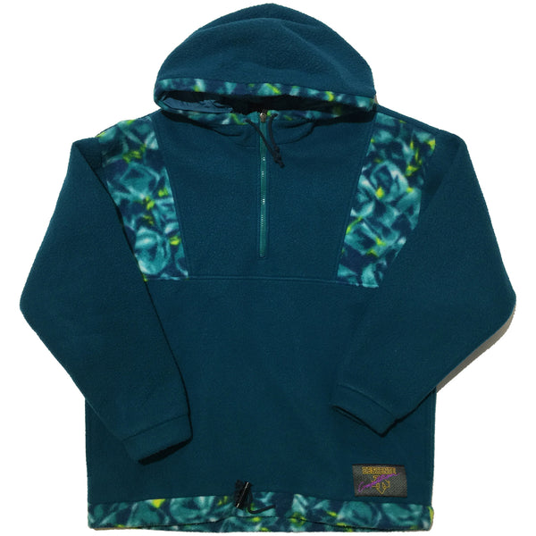 Descente Blue Fleece Half Zip Hoodie