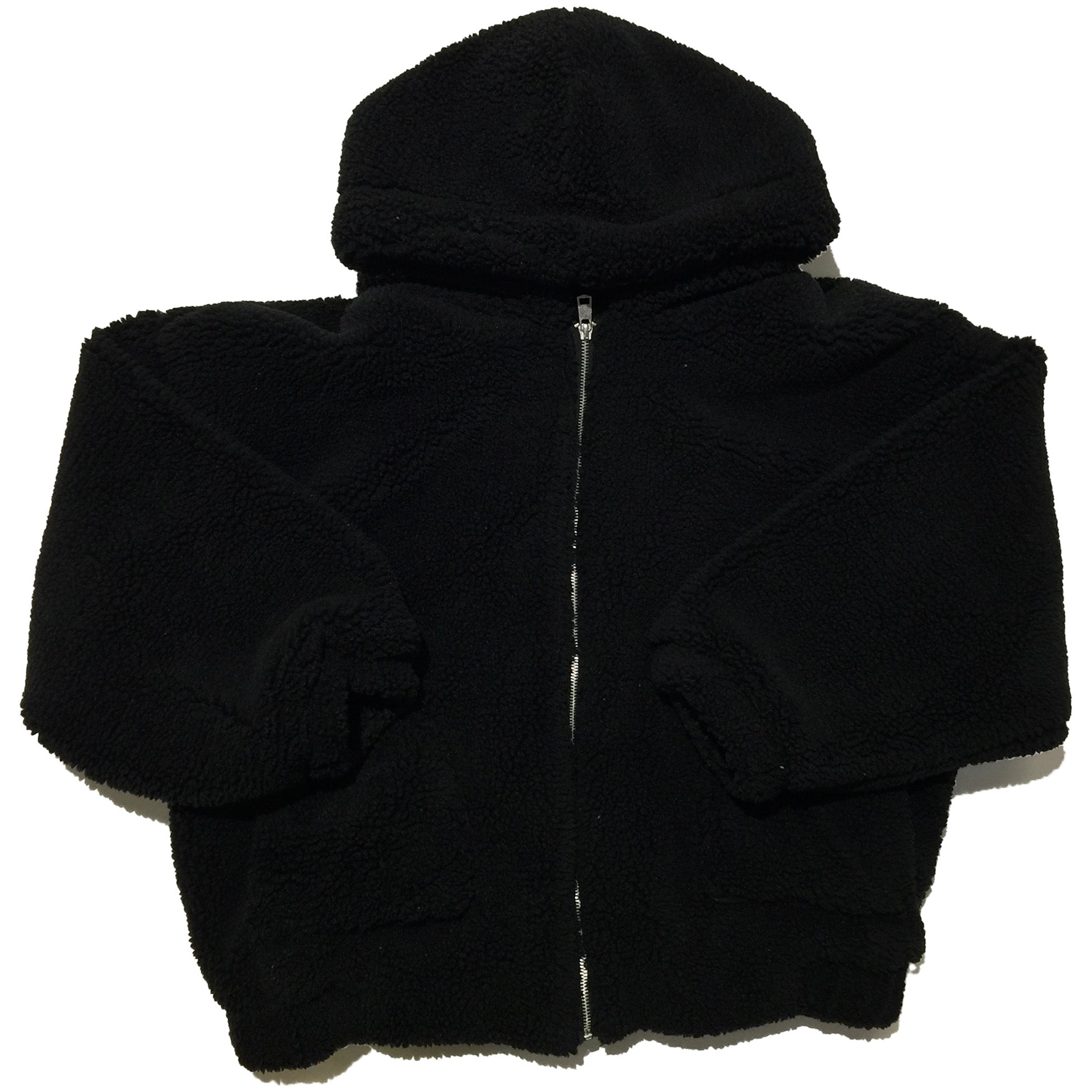 Super Thick Black Fleece Hoodie