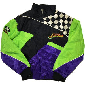 Team Arctic Lime Green, Purple, Checked Jacket