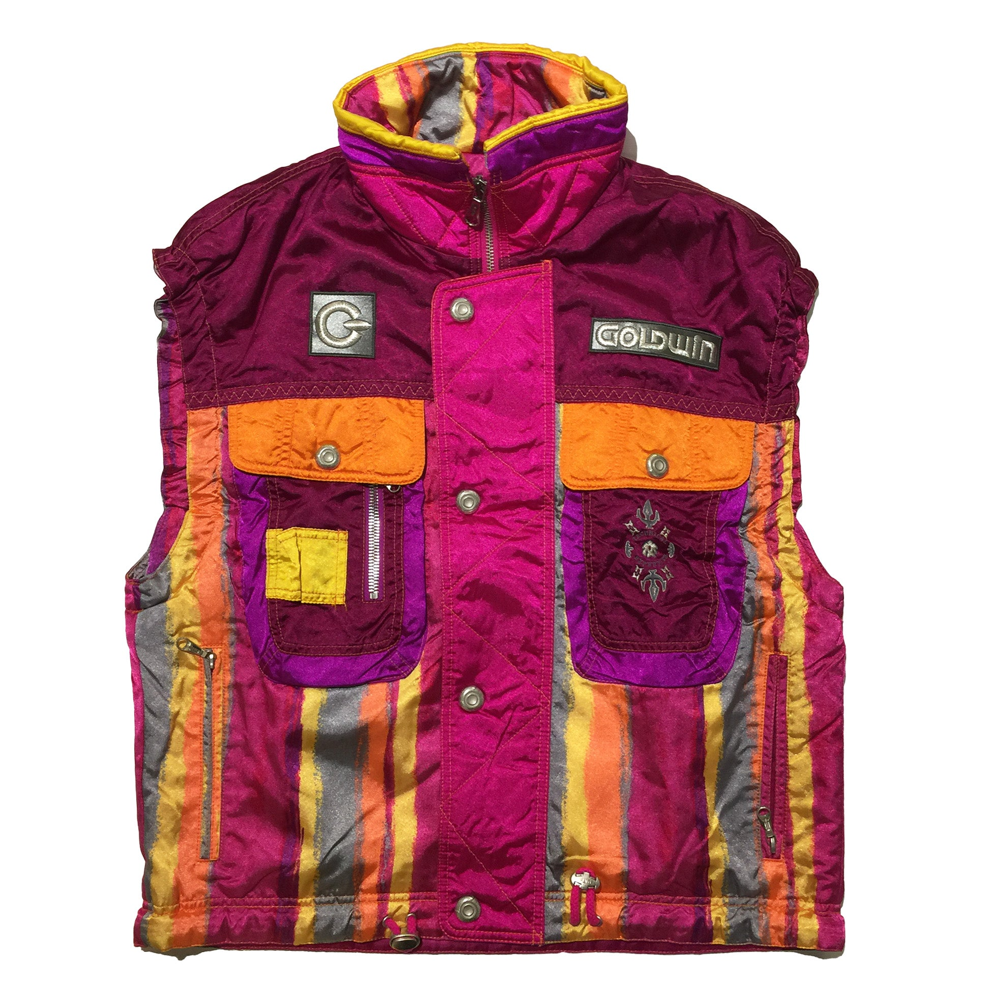 Goldwin Pink and Orange Ski Vest