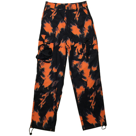 Black and Orange Nylon Pants