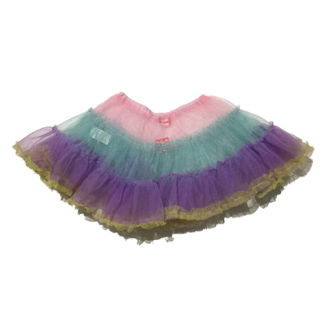 ACDC Rag Skirt, Pink, Blue, Purple (Short)