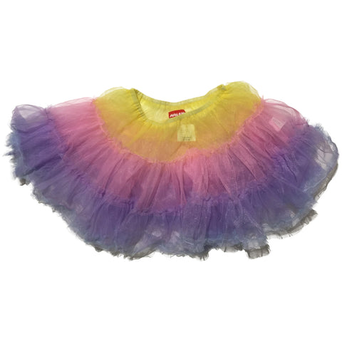 ACDC Rag Skirt, Yellow, Pink, Purple (Short)