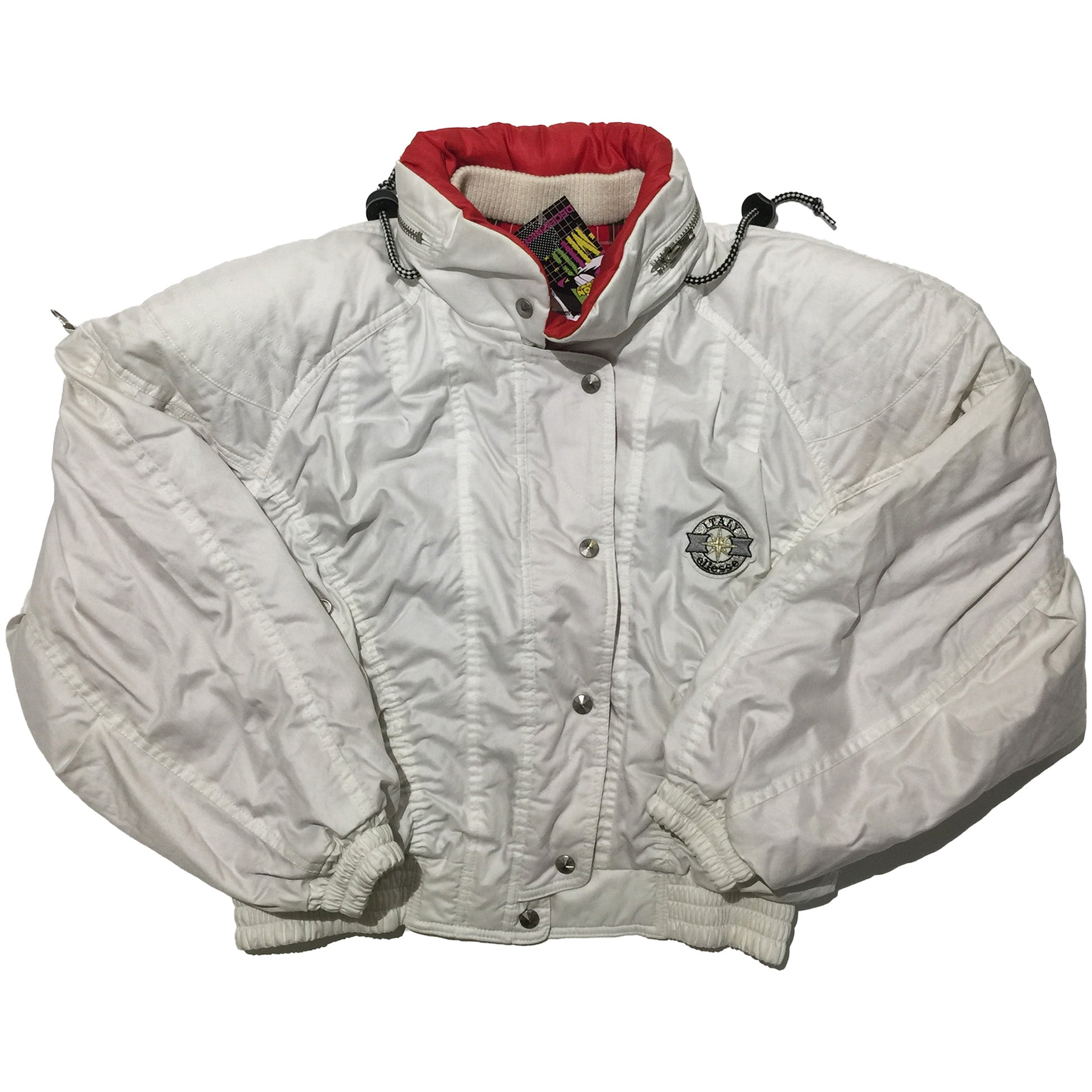 Ellesse White and Red Accent Jacket