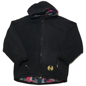 Lanatura Embellished Black Hooded Jacket