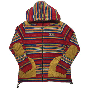 Titicaca Striped Hooded Fleece Sweater