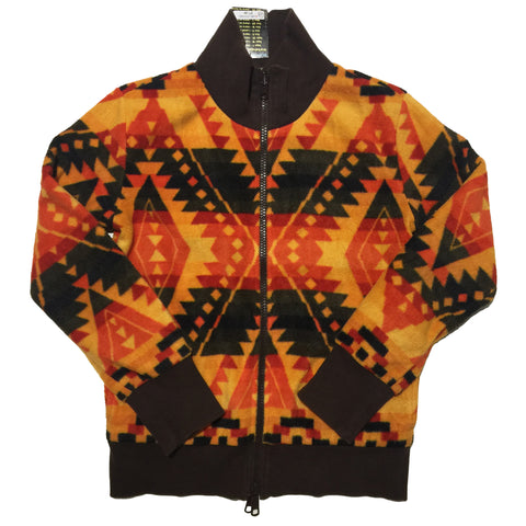 Orange Fleece High Neck Sweater