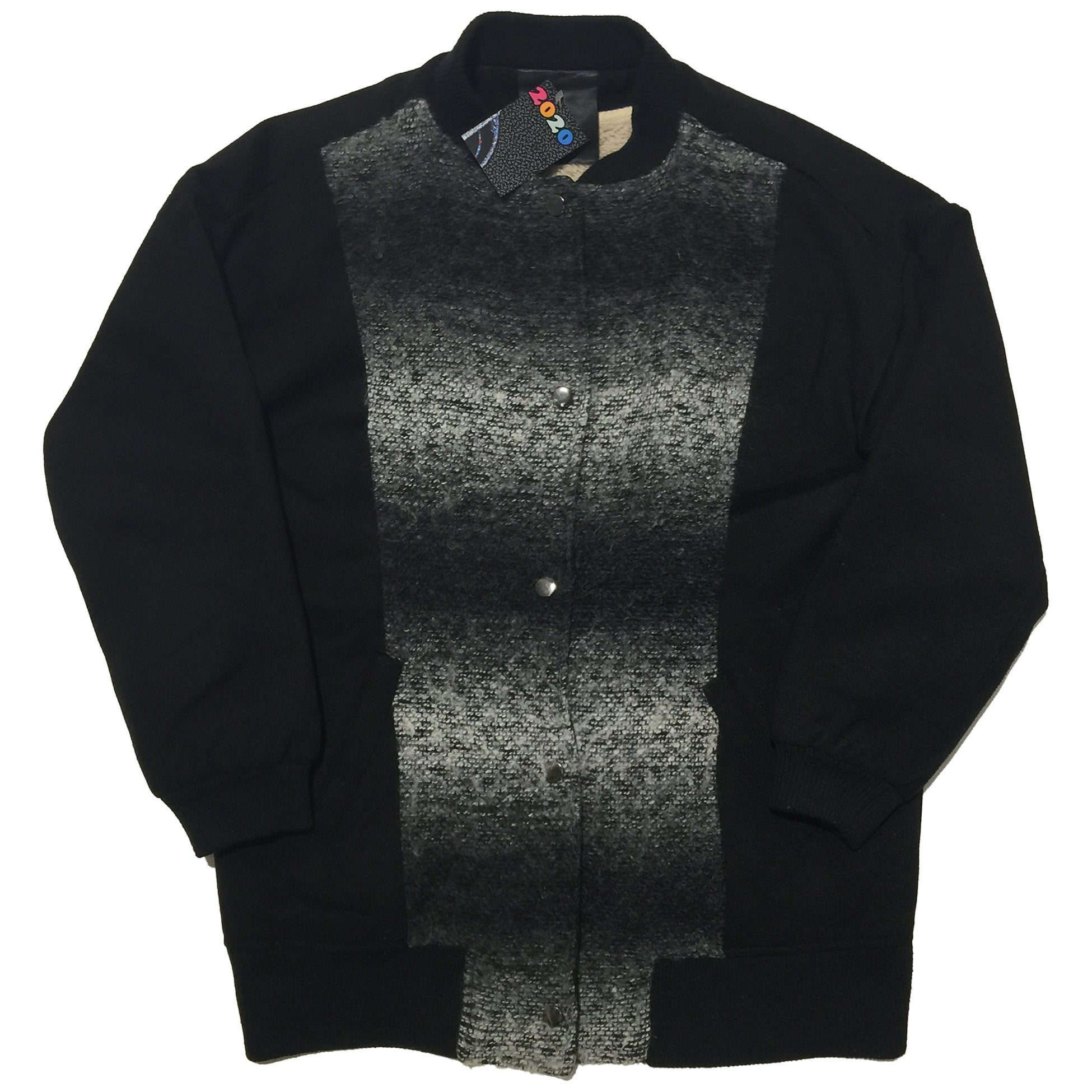 Black Gradient Fleece Lined Sweater