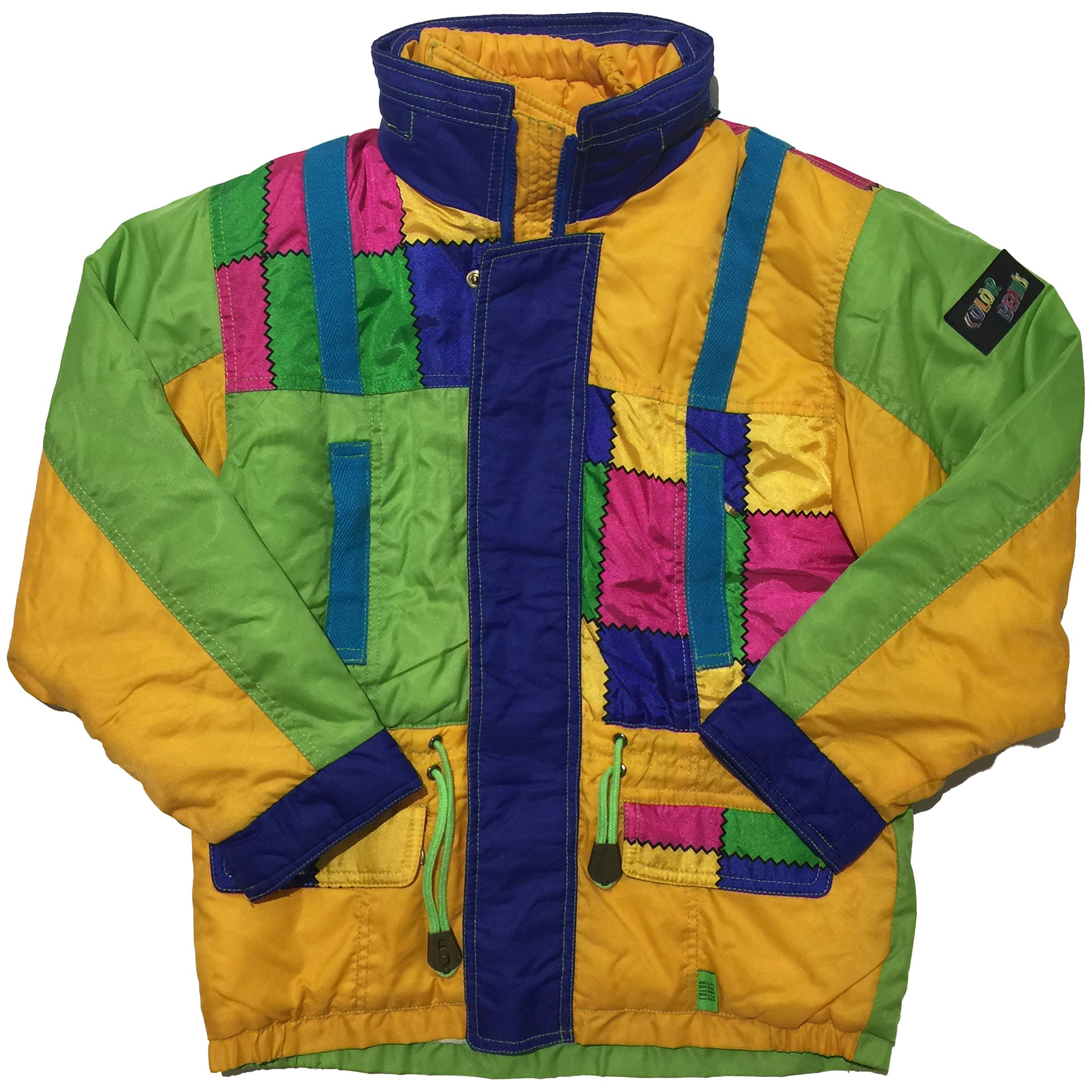 Color Beams Color Block Jacket