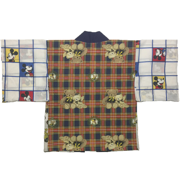 Teddy Bear and Mickey Mouse Grid Haori