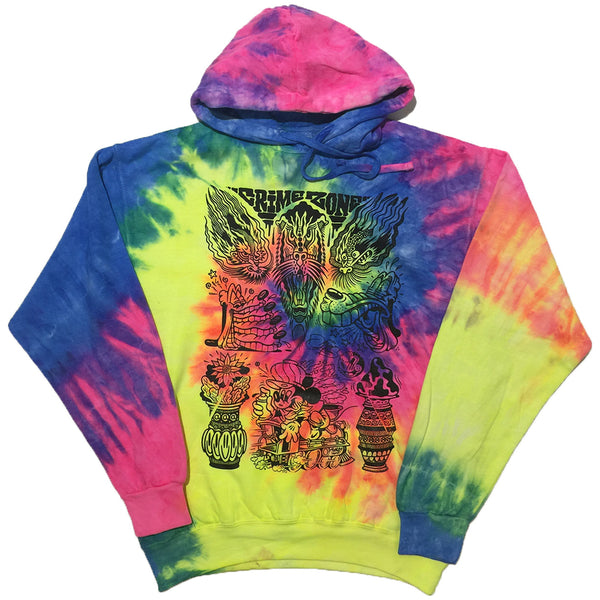 """Crime Zone Flash"" Tie-Dye Hoodie by Pablo Dalas"