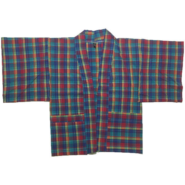 Blue, Green, Red Plaid Haori