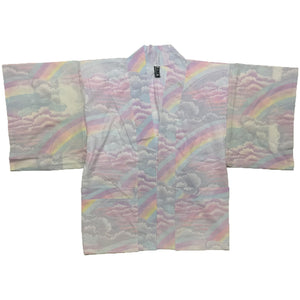Pastel Rainbow and Clouds Haori