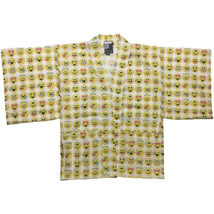 Smiley Face Emoticon All Over Print Haori