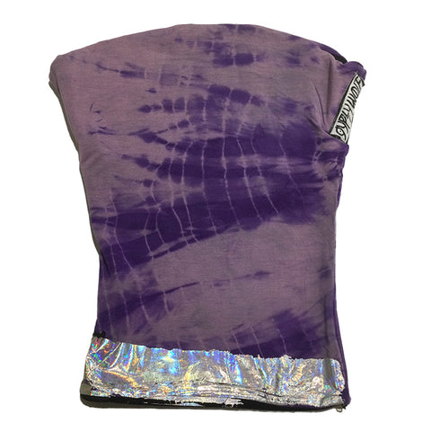 Purple and Silver Hand Dye Hand Made Face Mask by Gypsy Wolf