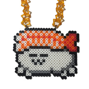 Cozy Ebi Pixel Necklace by Candelicious