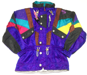 Purple Multi Color Block Parka by Salomon