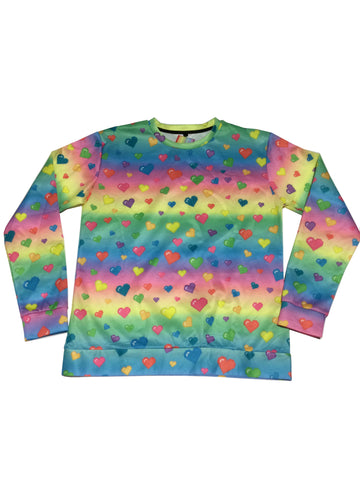 Candelicious Rainbow Hearts Sweater