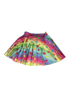 Candelicious Rainbow Hearts Mini Skirt