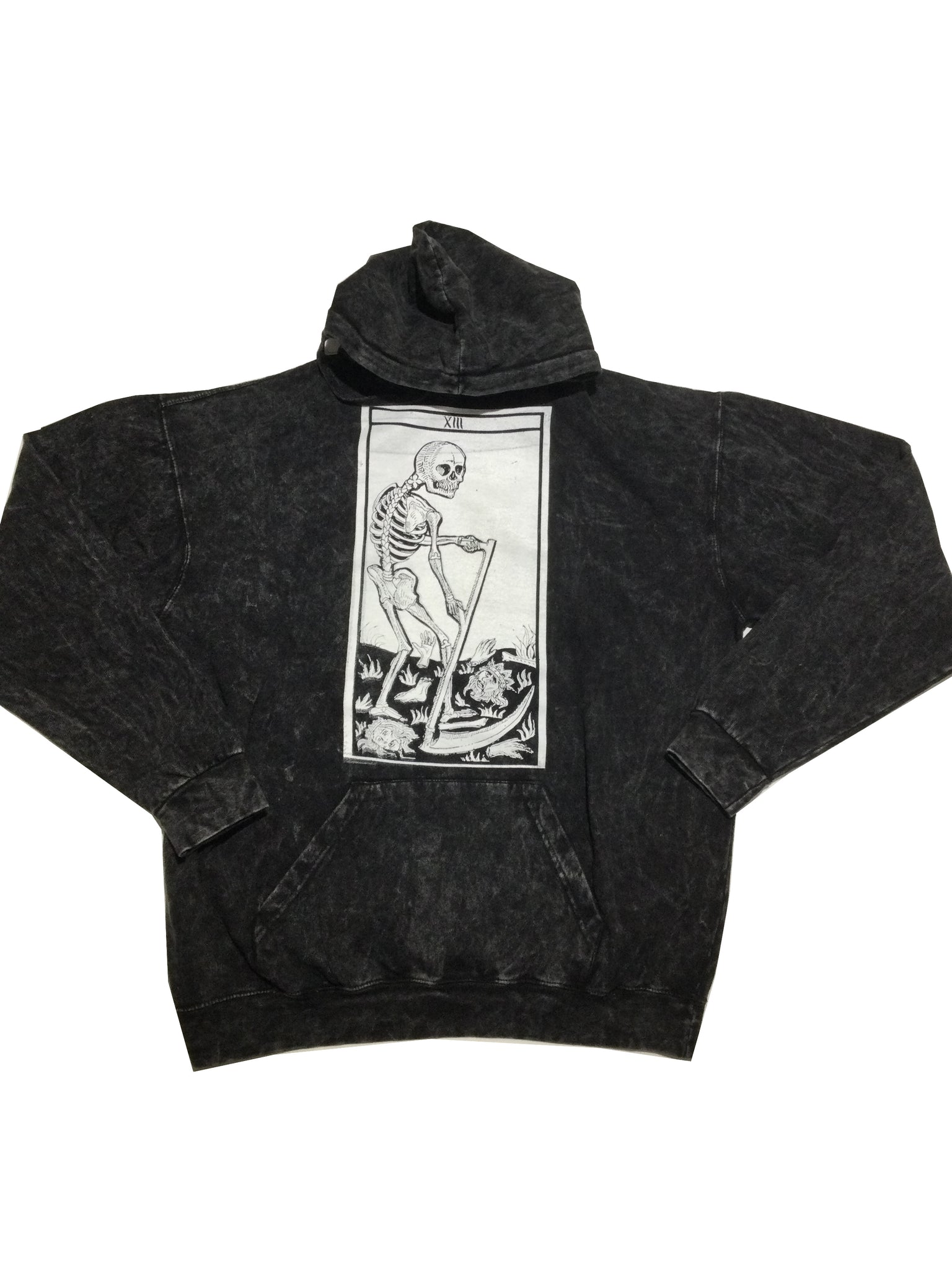 "Tooth and Claw for Blim ""Death"" Acid Wash Hoodie"