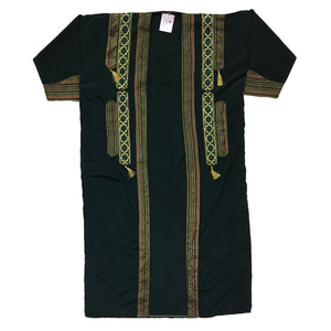 Green Ceremonial Robe with Tassels