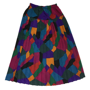 Multi Coloured Pleated Skirt