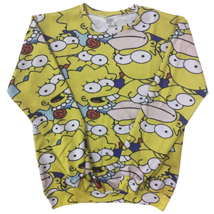Simpsons All Over Print Sublimation Sweater