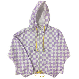 Lilac Checkered Canvas Jacket
