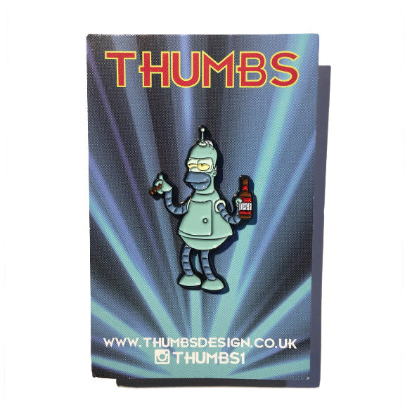 Homer x Futurama Pin Badge by THUMBS