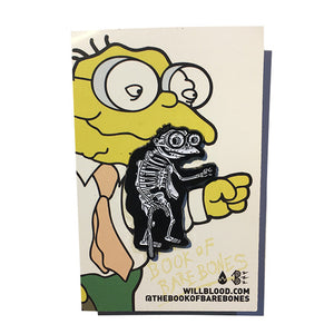 Hans Moleman Xray Pin Badge by BARE BONES