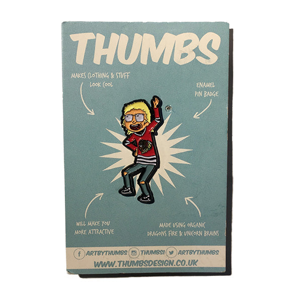Morty x Wayne's World Pin Badge Set by THUMBS
