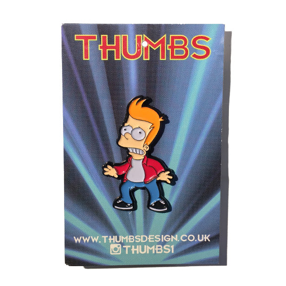 Bart x Futurama Pin Badge by THUMBS