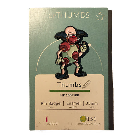 Krusty x Mr Mime Pin Badge by THUMBS