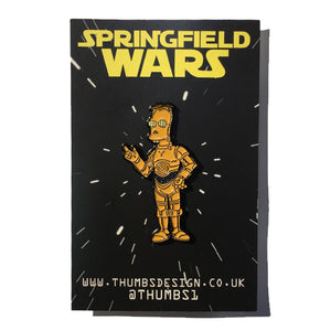 Frink x Springfield Wars Pin Badge by THUMBS
