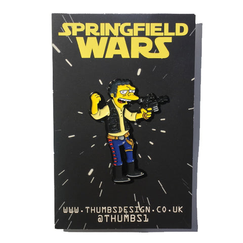 Moe x Springfield Wars Pin Badge by THUMBS