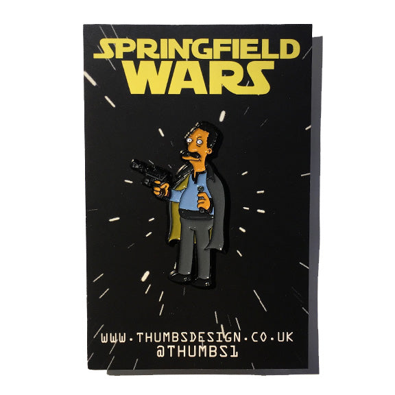 Carl x Springfield Wars Pin Badge by THUMBS