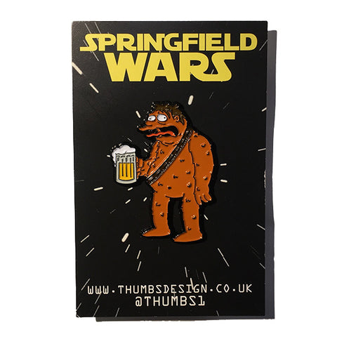 Barney x Springfield Wars Pin Badge by THUMBS