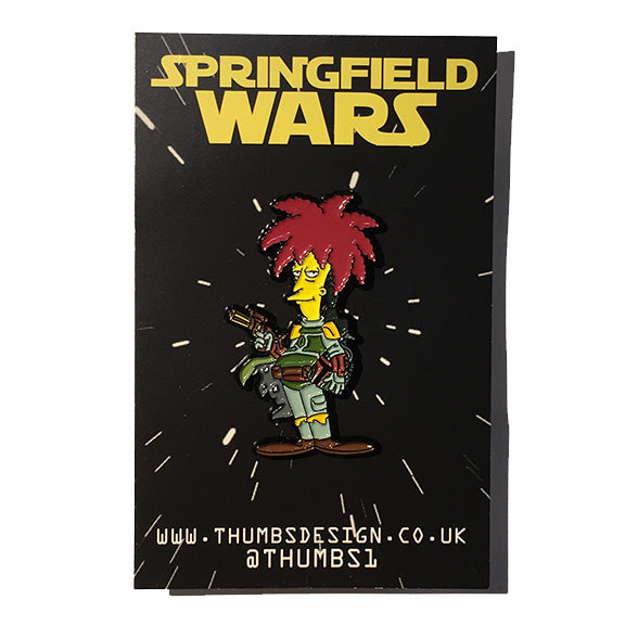 Sideshow Bob x Springfield Wars Pin Badge by THUMBS