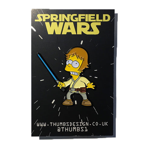 Bart x Springfield Wars Pin Badge by THUMBS