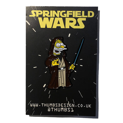 Abe x Springfield Wars Pin Badge by THUMBS