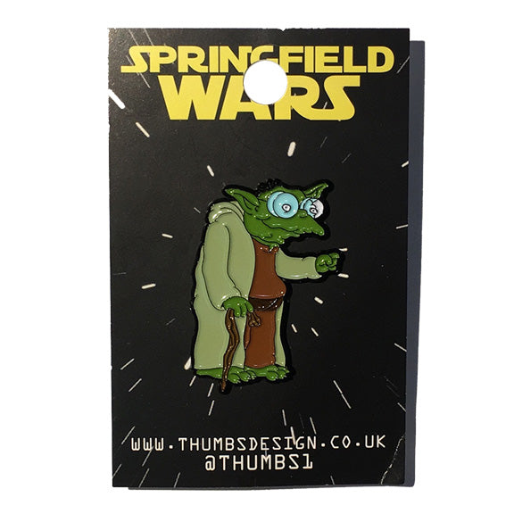 Hans Moleman x Springfield Wars Pin Badge by THUMBS