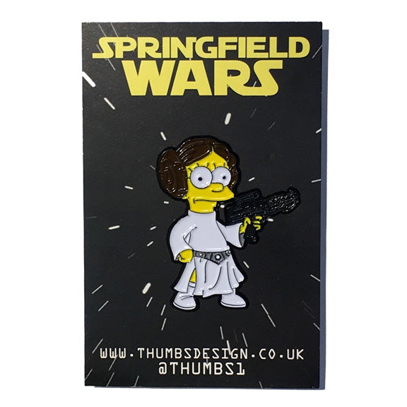 Lisa x Springfield Wars Pin Badge by THUMBS
