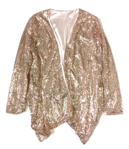 Copper Sequin Shrug Blazer