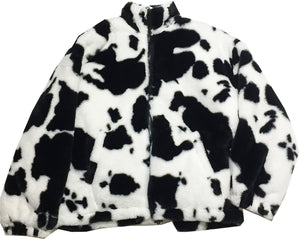 Faux Fur Cow Jacket