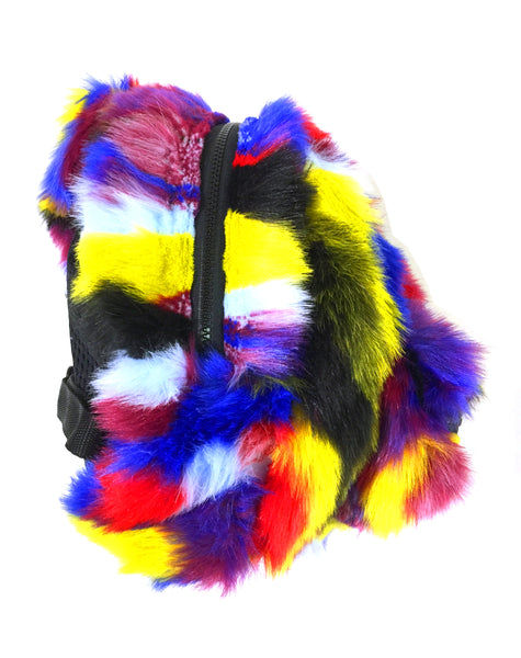 Blim Made Patchwork Faux Fur Mini-Backpack
