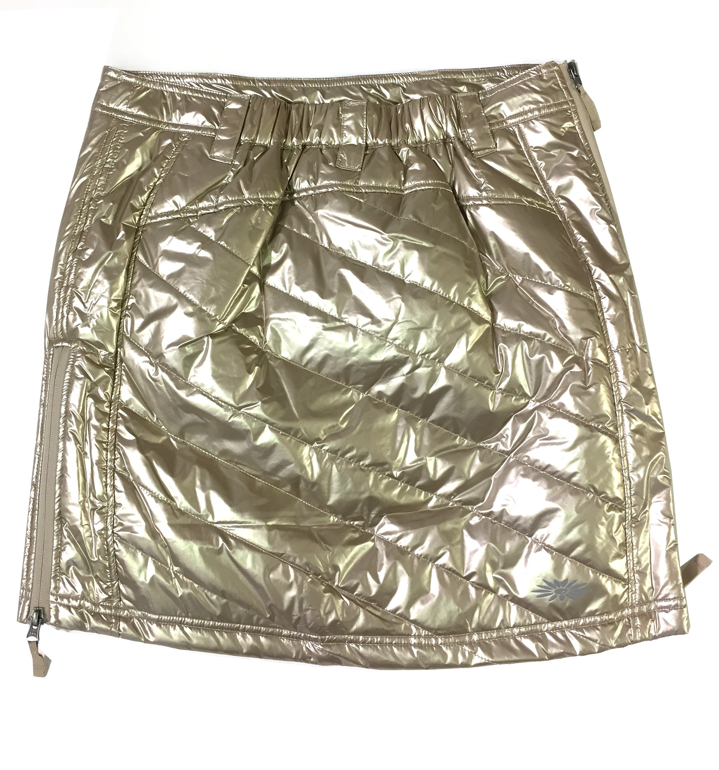 Skhoop Metallic Gold Mini-Skirt