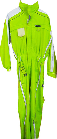 Goldwin Neon Green Ski Suit