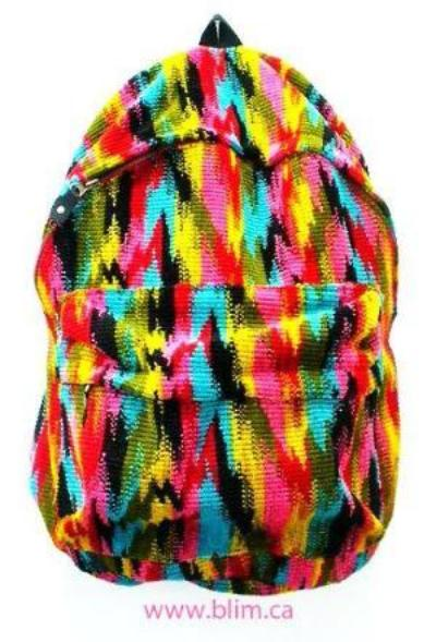Handmade  Rainbow Ikat Back Pack