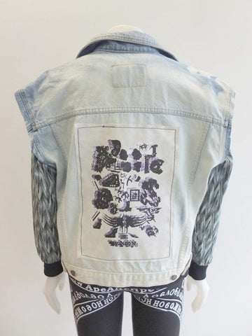 OOAK Reworked Vintage Calvin Klein Vest w/ One of a Kind Patch